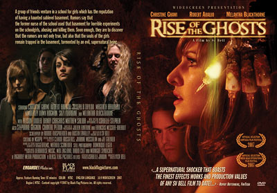 DVD cover design for Rise of the Ghosts.