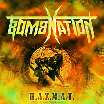 CD cover design - Album artwork design artwork - thrash metal - Bomnation : H.A.Z.M.A.T.